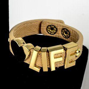 BCBG Love Life leather bracelet